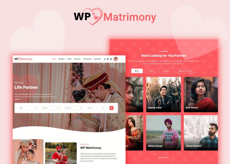WP Martrimony Theme