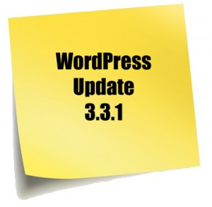 Wordpress Update 3.3.1