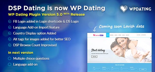 WP Dating Plugin 5.0 Beta