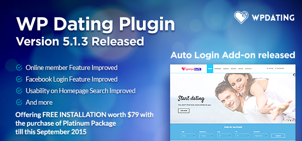 wp dating plugin release