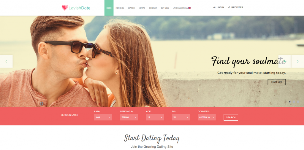 best dating website theme