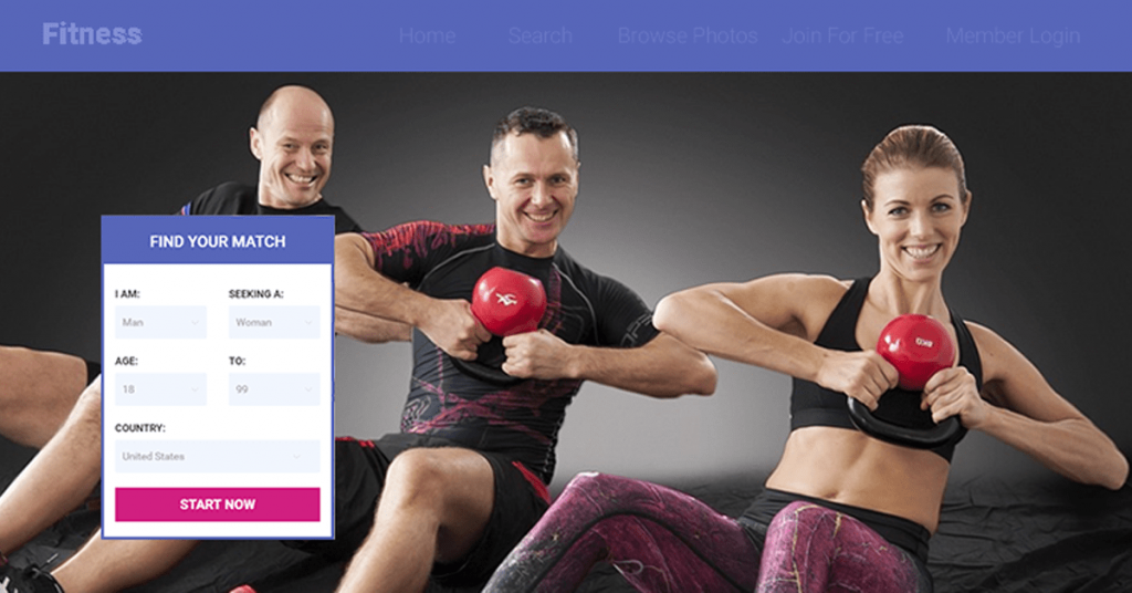 Fitness dating website made using dating software