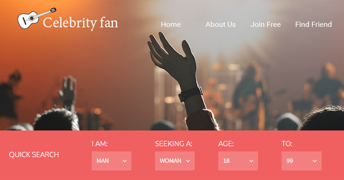 Celebrity dating website made using dating software