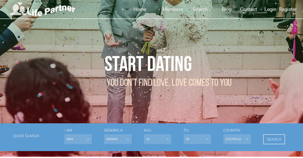matrimonial dating website made using dating software