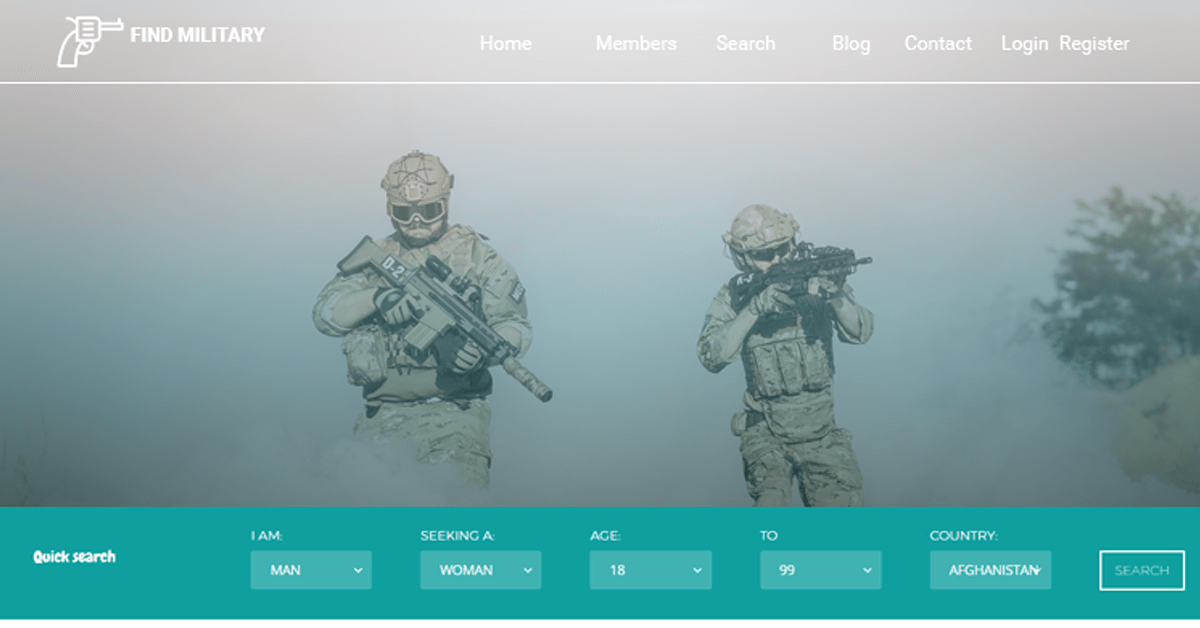 military dating website made using dating software
