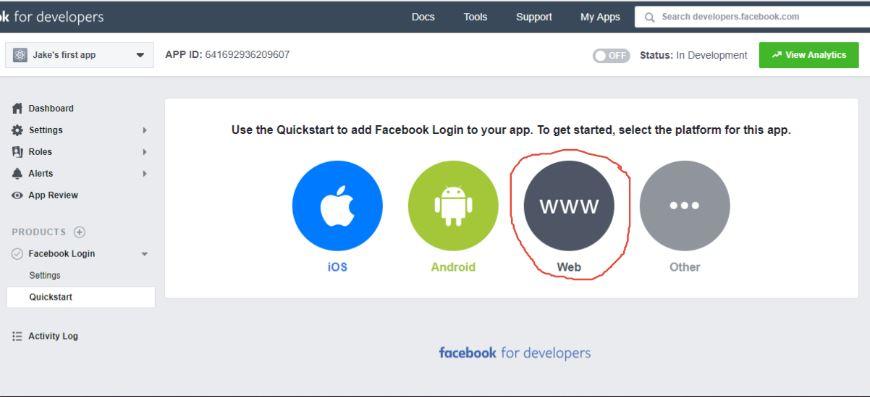 facebook-login-settings