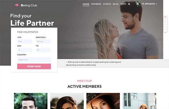 Dating-club Theme