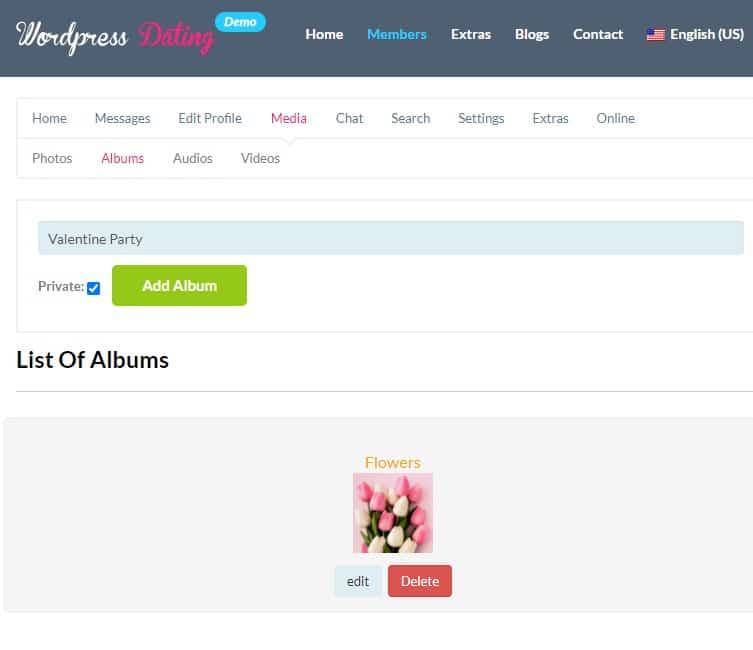 Make your album private